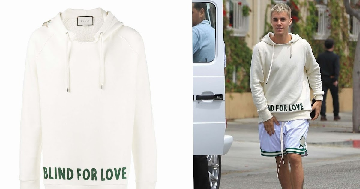 Justin Bieber Y Su Blind For Love Embroidered Hoodie De Gucci