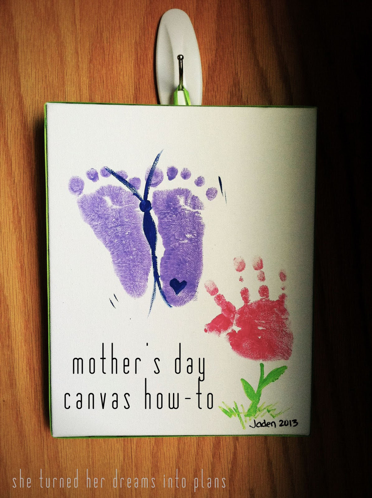 She Turned Her Dreams Into Plans: mother's day canvas how-to