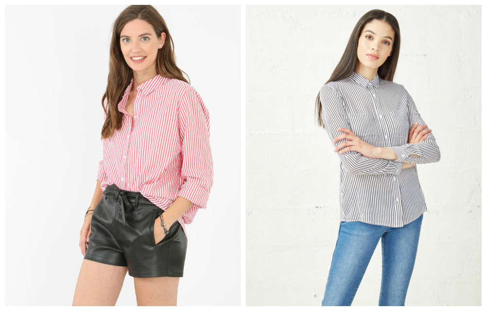 Chemises rayées Pimkie & Jennyfer