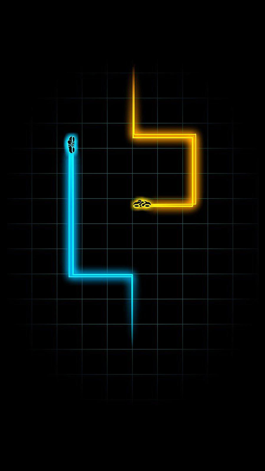 tron snake retro black background