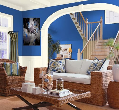 Blue Living Room Colors: Eye For Design: Decorating With The Pantone Top Color For