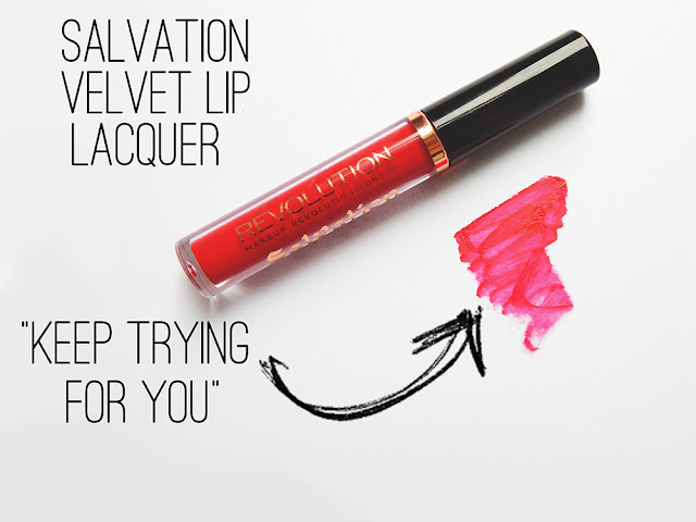 Makeup Revolution Salvation Velvet Lip Lacquer in Keep trying For You