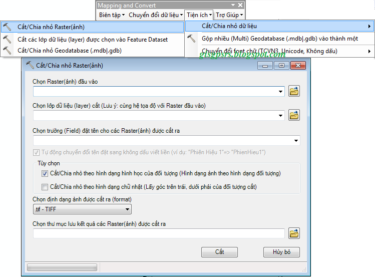 Hướng dẫn sử dụng tool Mapping and Convert trên ArcGis, dùng
