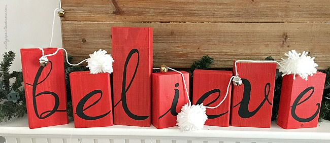 Vintage Paint and more... a rustic wood sign using scraps of 2x4's and stenciling believe on them