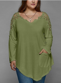 blusa de renda plus size