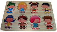 Puzzle kayu anak boy and girl