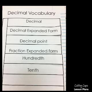 Decimals and Fractions Interactive Notebook Sort FREEBIE