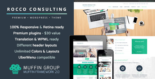 Rocco v1.3 Flat Premium WordPress Theme