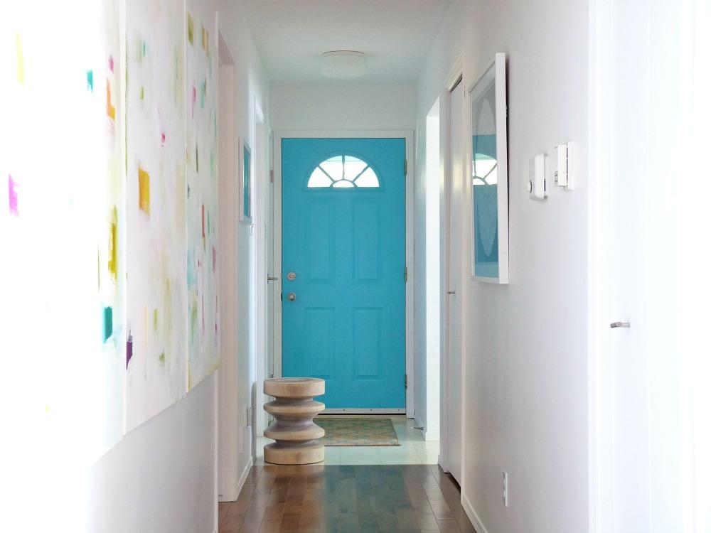 Paint a boring front door aqua