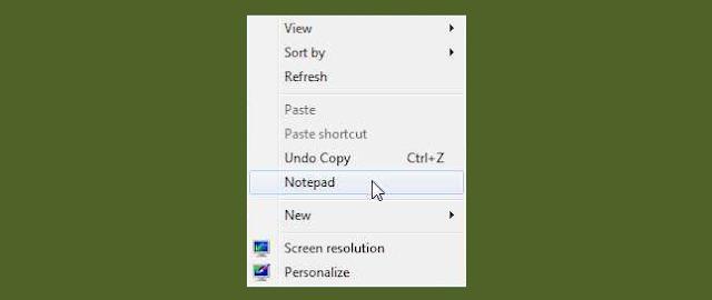 Menambahkan Aplikasi ke Menu pintas klik kanan Desktop