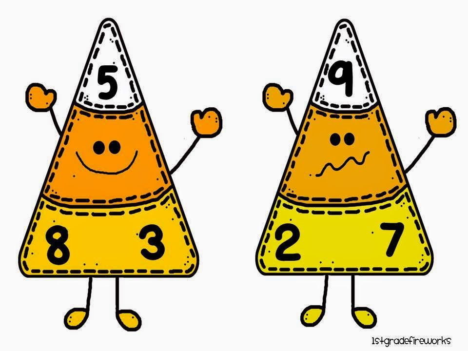 Candy Corn Fact Families from Trick or Treat October Centers