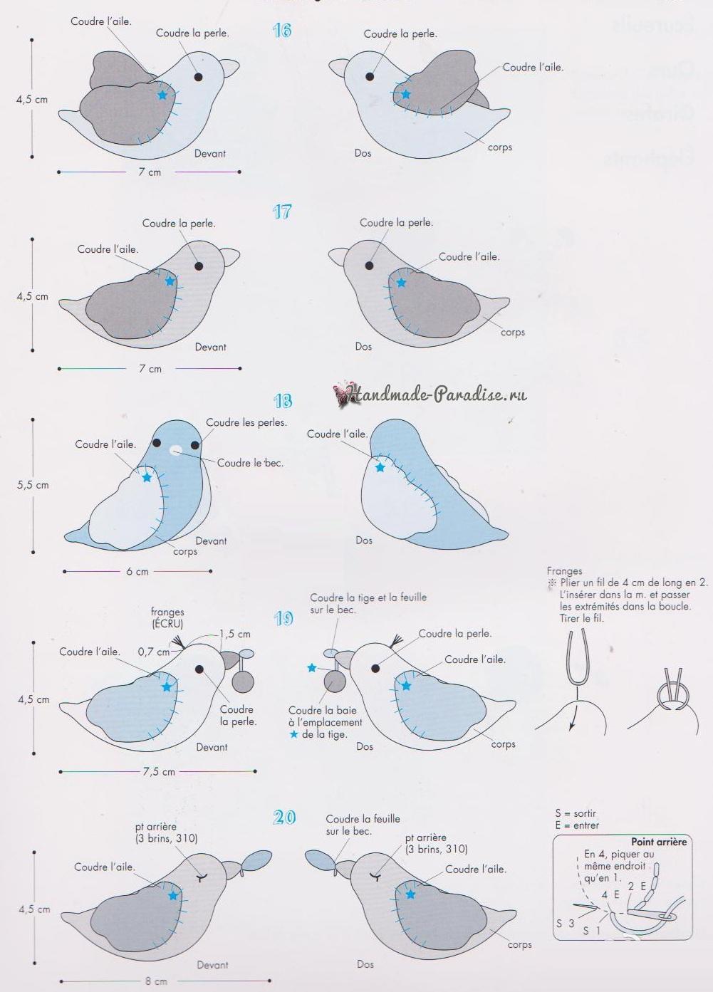 Схемы вязания птичек амигуруми (2)