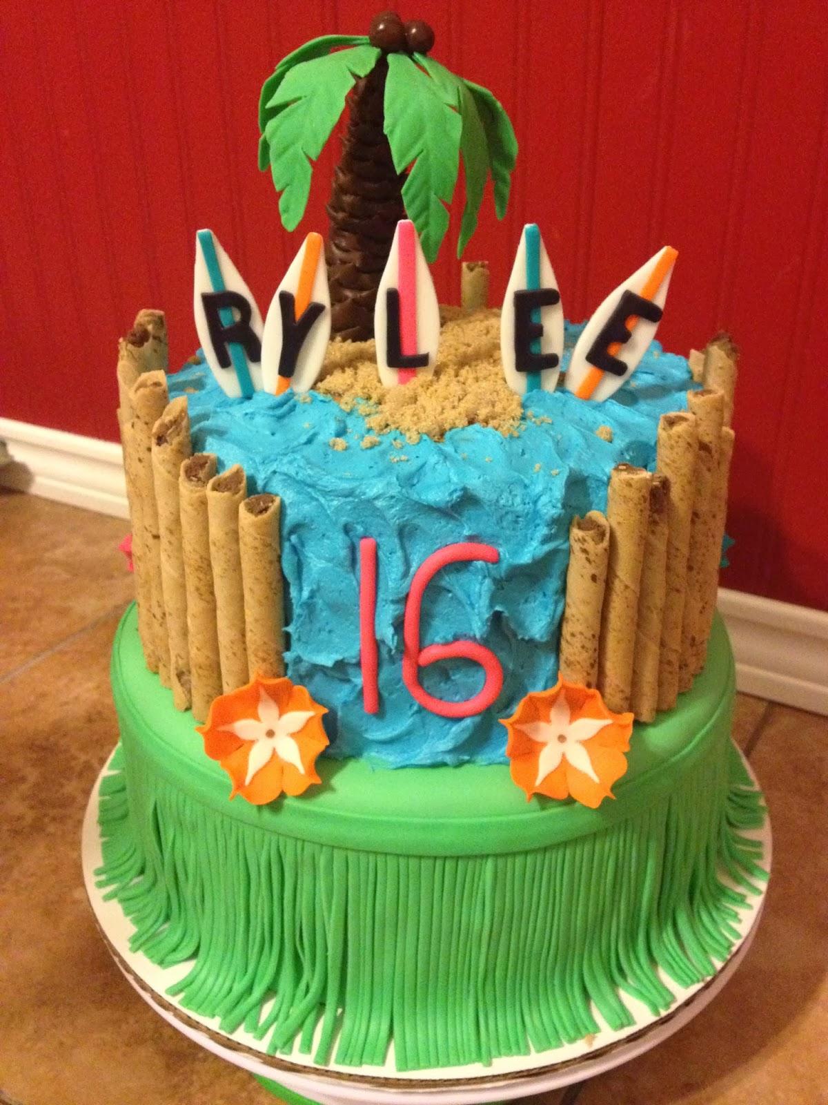 Sugar Love Cake Design Hawaiian Luau