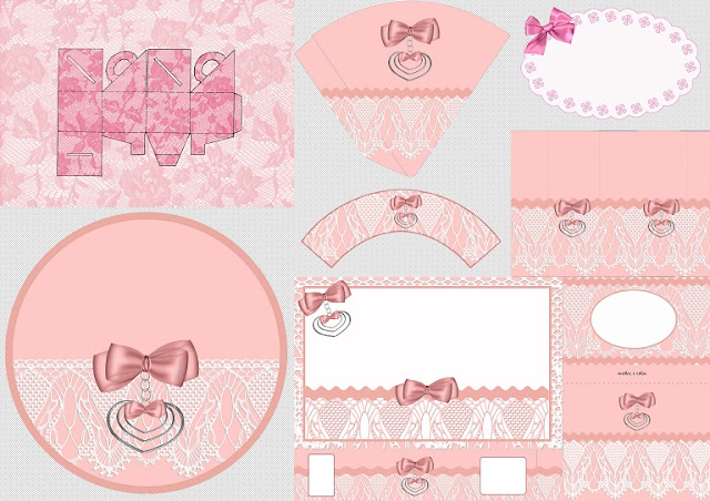 Beauty Lace in Pink Free Printable Kit for First Communion.