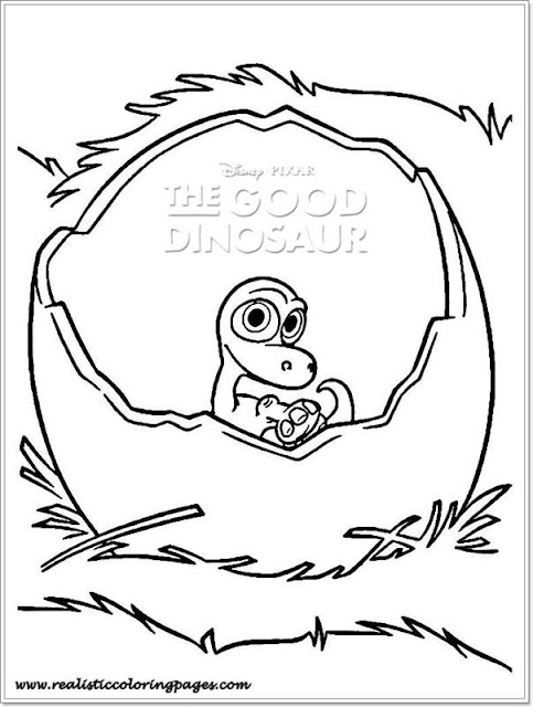 colouring pages good dinosur free