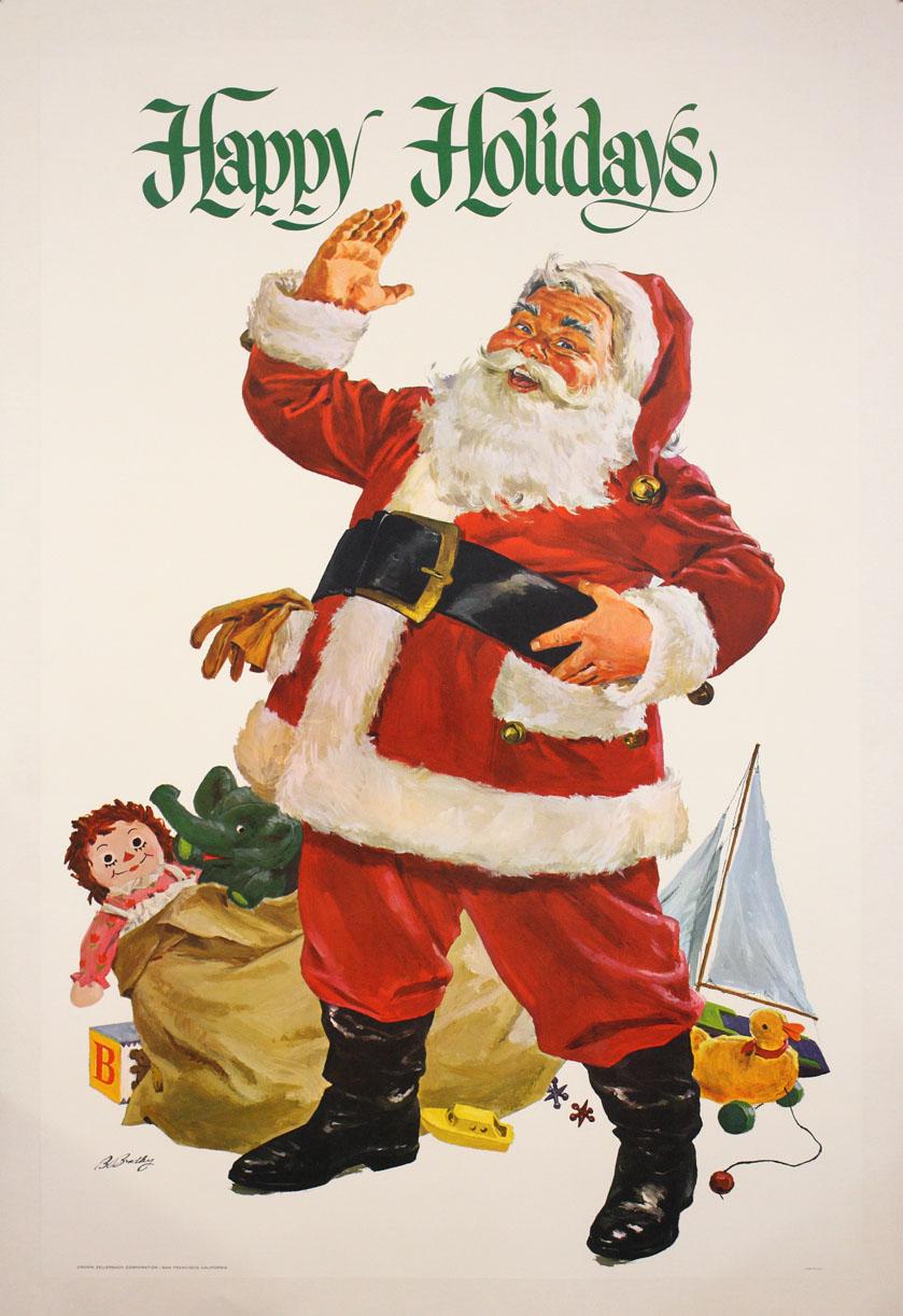 Vintage Christmas Cards Sleigh Ride