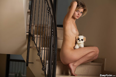 Zoey Ryder Staircase Striptease Picture Set