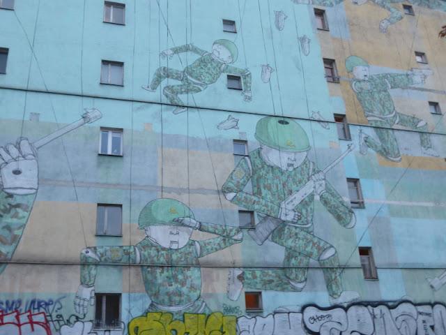 war mural, blu, Warschau, Warszawa
