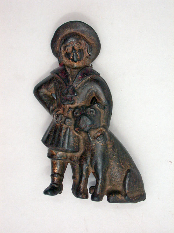Cast Iron Buster Brown And Dog Tige Bank
