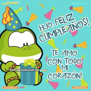 felicitaciones de cumpleaños hijo