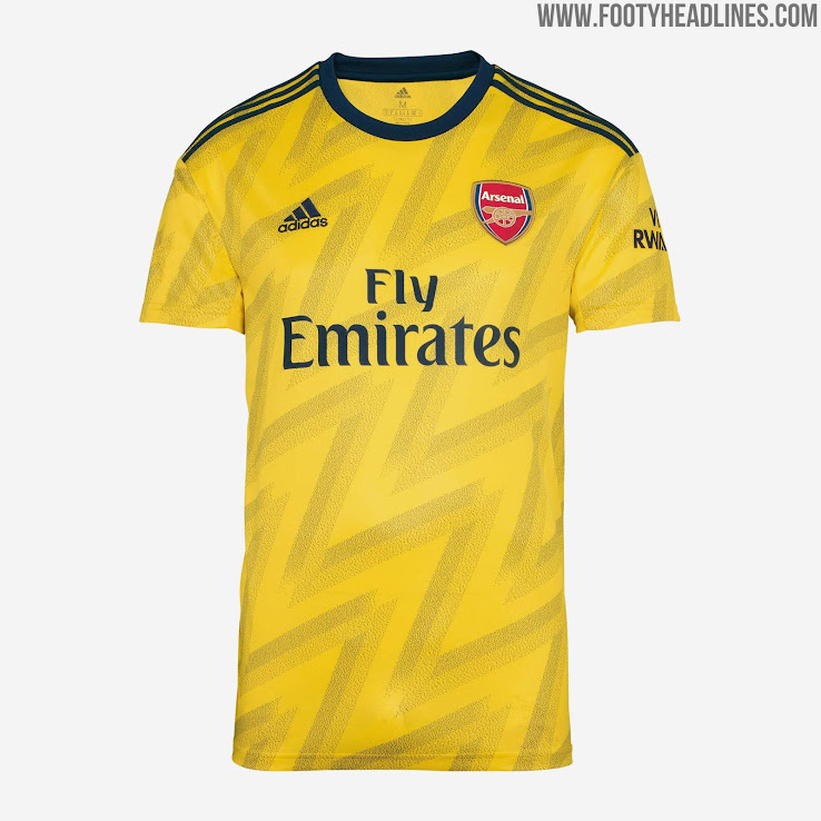 finest selection 3a2fb 80c6f Adidas Arsenal 19-20 Away Kit Released - 'Bruised Banana ...