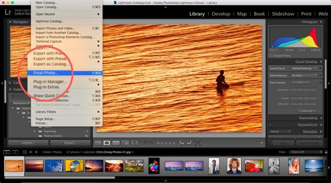 Cómo enviar fotos directamente desde Adobe Lightroom