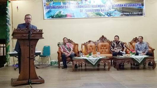 Wagub Nasrul Abit Tekankan Kesbangpol Miliki Peran dan Fungsi Jaga Stabilitas Daerah