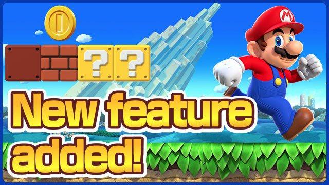 Fitur baru ditambahkan dalam Super Mario Run
