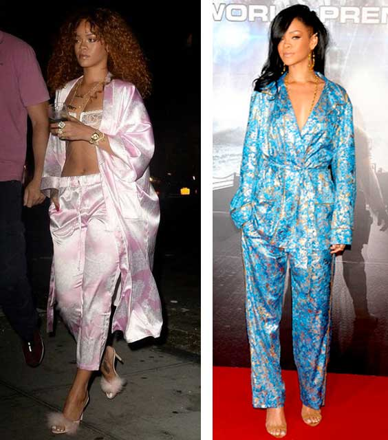 rihanna de pijama