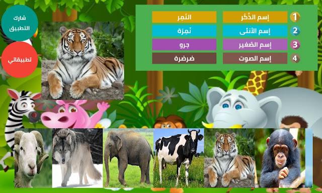 تطبيق أسماء صغار و إناثُ و ذكور و أصوات الحيوانات بالصوت و الصورة | موسوعة الحيوان P1