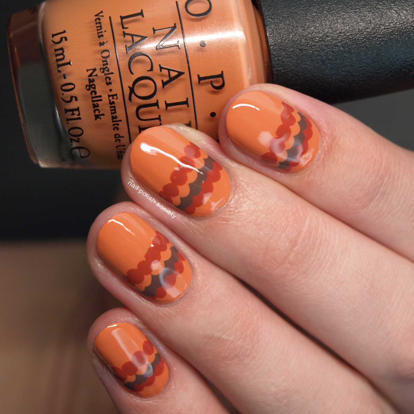 Nail Polish Society: 31DC2016 Day 2: Autumnal Orange