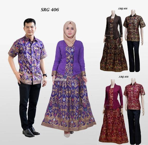 Model Baju Muslim Gamis Batik: 60+ Model Gamis Batik Kombinasi Polos Muslimah Modern 2019