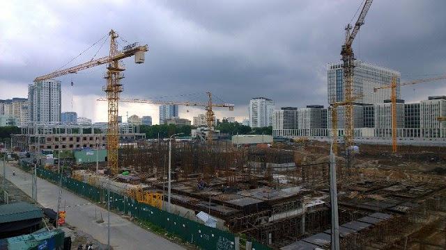 Công trường thi công tại chung cư An Bình City