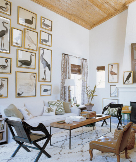 Elle Design: Design In The Woods: How Do You Hang Your Art?
