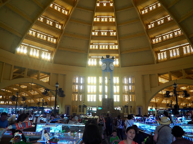 Inside the building of Central Market, Phnom Penh, Cambodia