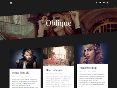 Oblique - шаблон для wordpress 2016