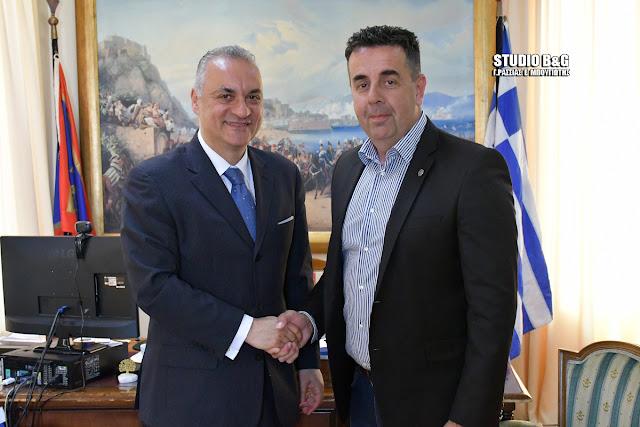 Επίσκεψη του ευρωβουλευτή της Ν.Δ. Μανώλη Κεφαλογιάννη στον Δήμαρχο Ναυπλιέων