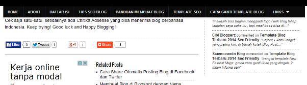 Discroll menu navegação no Blogger