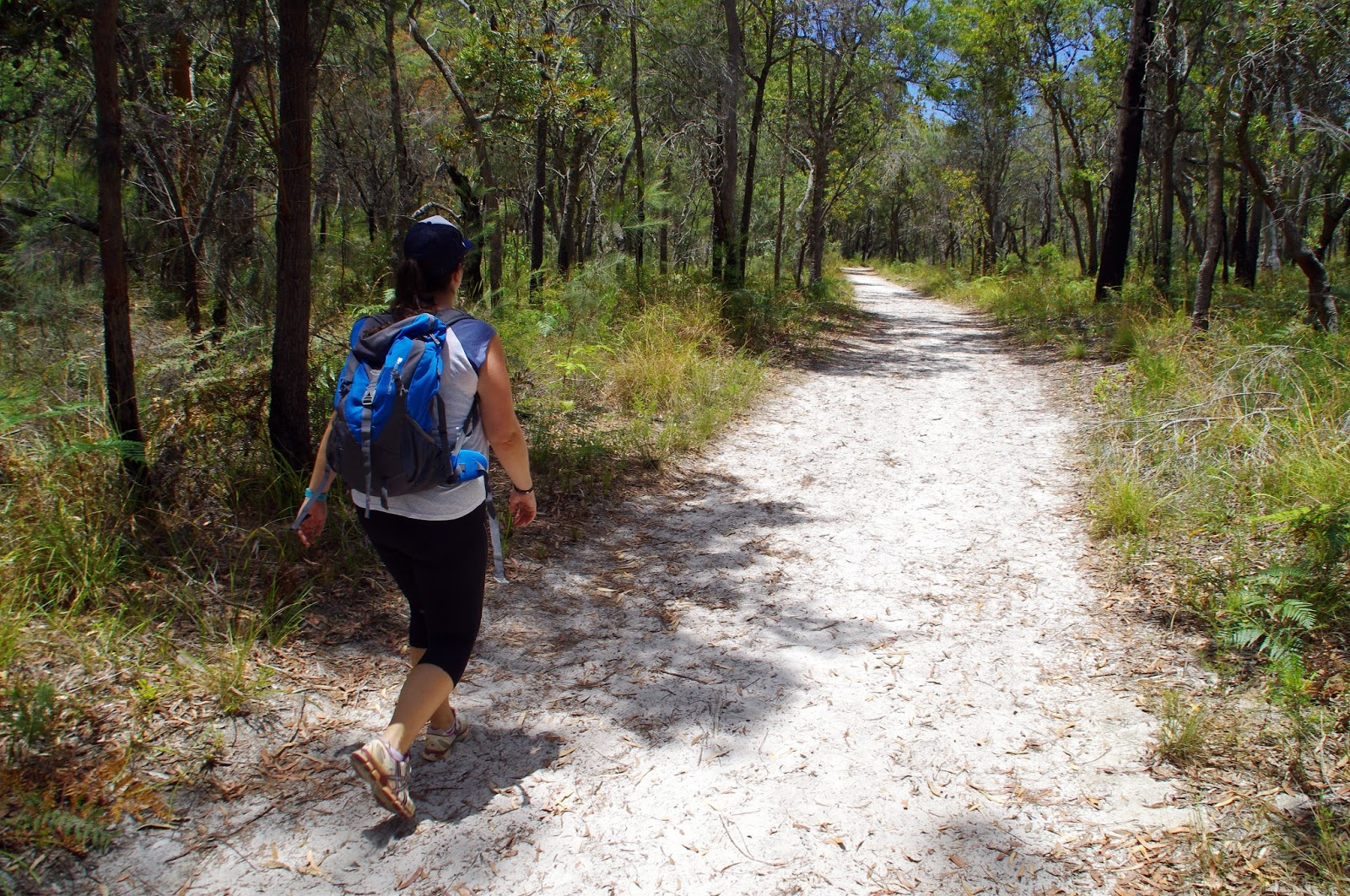 Girl walking on Stradbroke Island