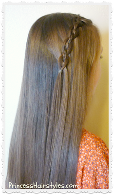 Video tutorial, how to waterfall chain braid