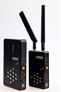 Professional wireless video transmitter and receiver