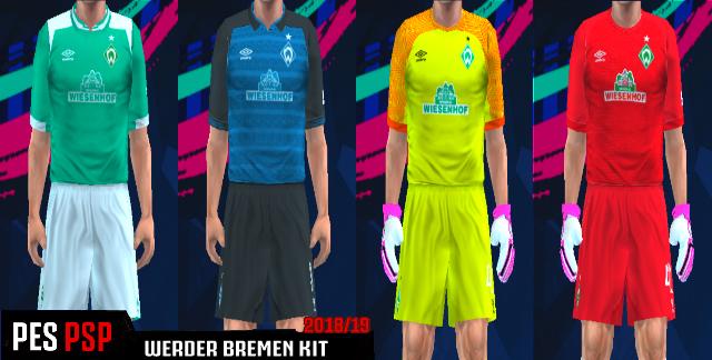 Werder Bremen Kit 2018/19 PES PSP For Emulator PPSSPP