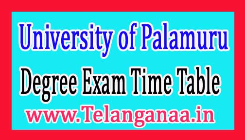 PU Degree 1st semester Practice Exam Time Table 2017