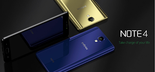 Infinix Note 4 Gold, blue and Black colours