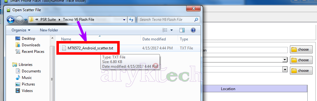 Tecno W2 Stock Firmware Flash Guide -Step 6-B