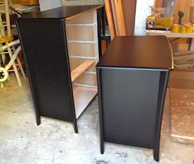 dressers painted in enamel
