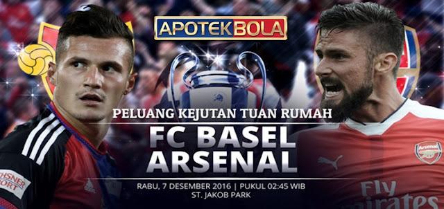 Prediksi Pertandingan FC Basel vs Arsenal 7 Desember 2016