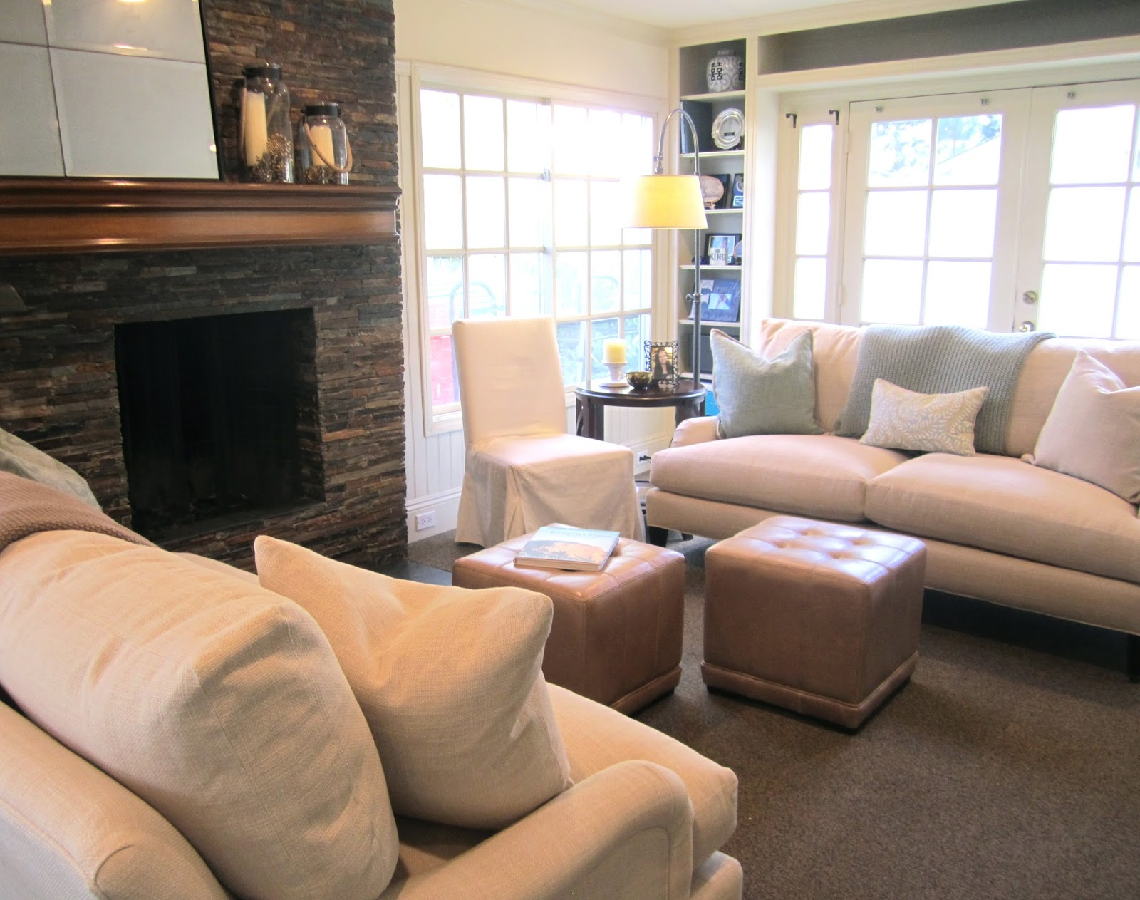 Newport Beach Family Room Before and After Classic Casual Home