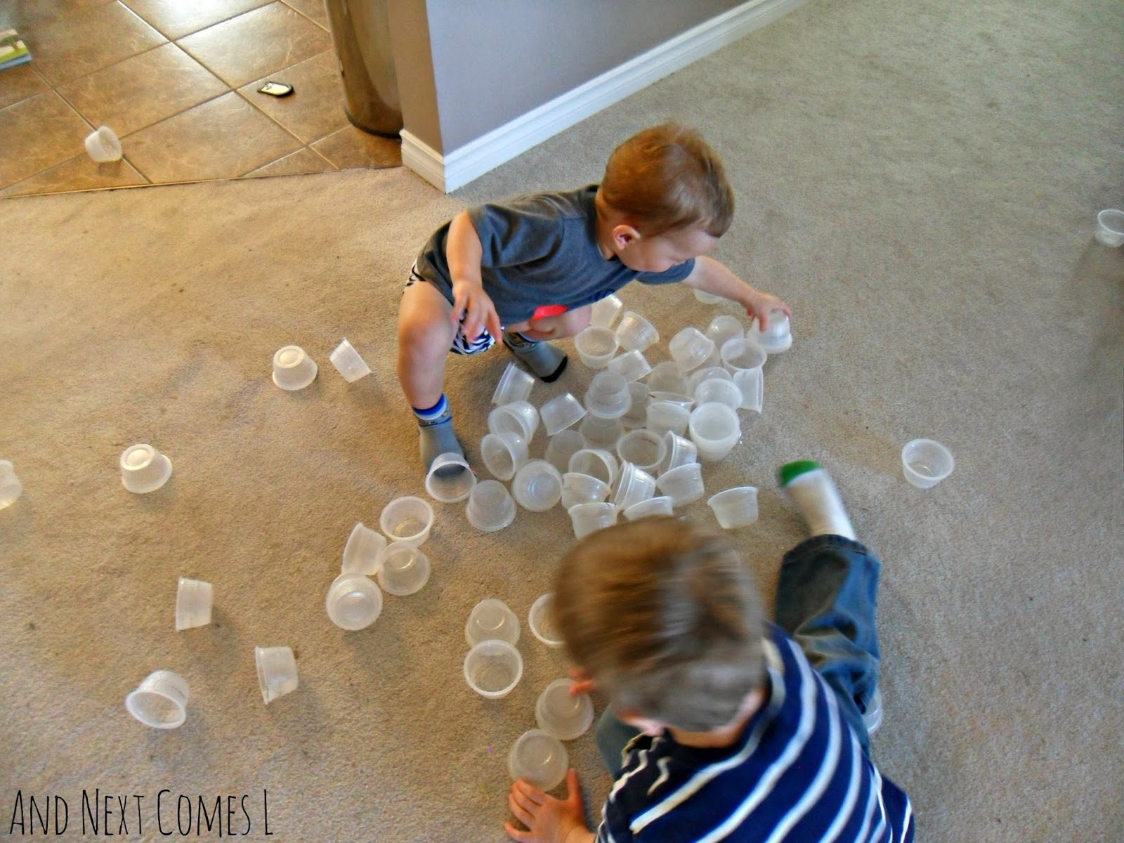Simple boredom buster for toddlers and preschoolers from And Next Comes L