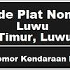 Kode Plat Nomor Kendaraan Luwu